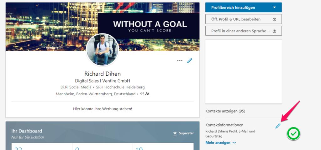 LinkedIn Profil URL ändern