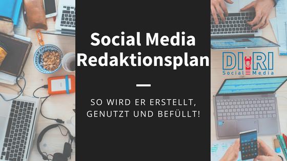 social media redaktionsplan