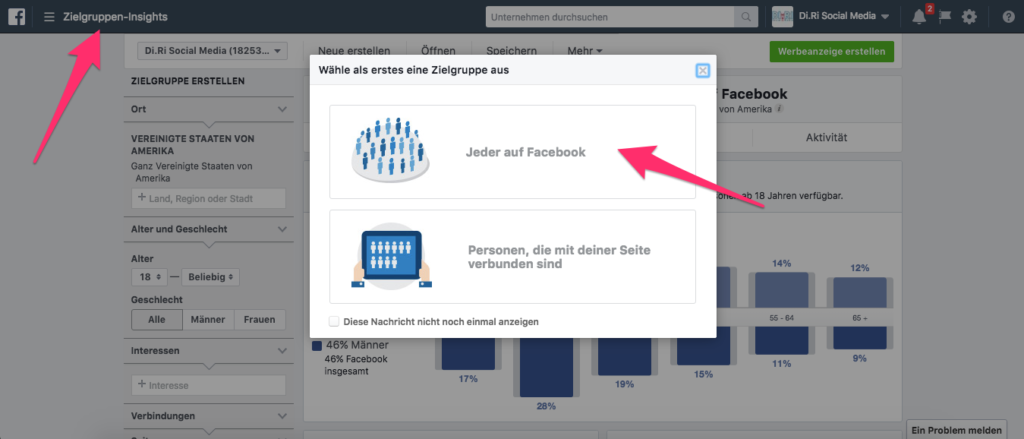 facebook insights tool wie funktioniert facebook werbung