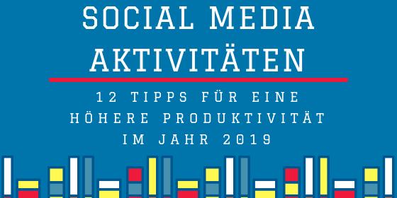 social media aktivitäten
