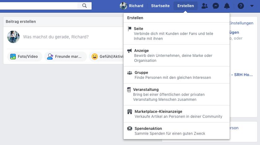 facebook unternehmensseite erstellen schritt 1