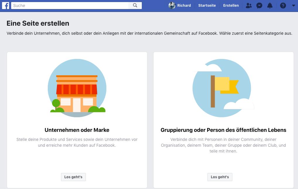 facebook unternehmensseite erstellen schritt 2