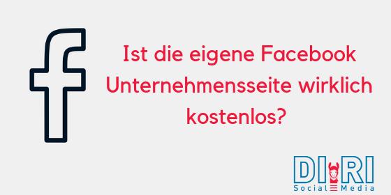 Facebook Unternehmensseite Kosten