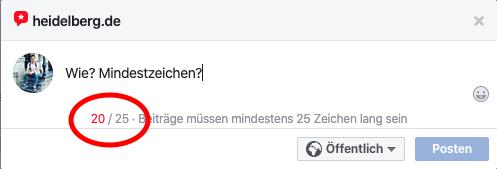 Facebook Seite Bewertung abgeben