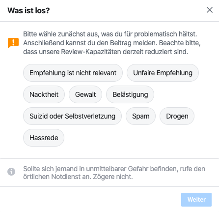 Wie kann ich bei Facebook eine Bewertung abgeben?