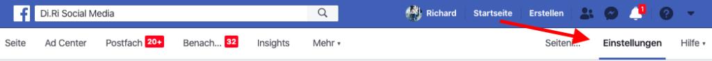Facebook Bewertungen abschalten
