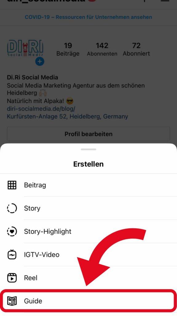 Instagram Guide Funktion