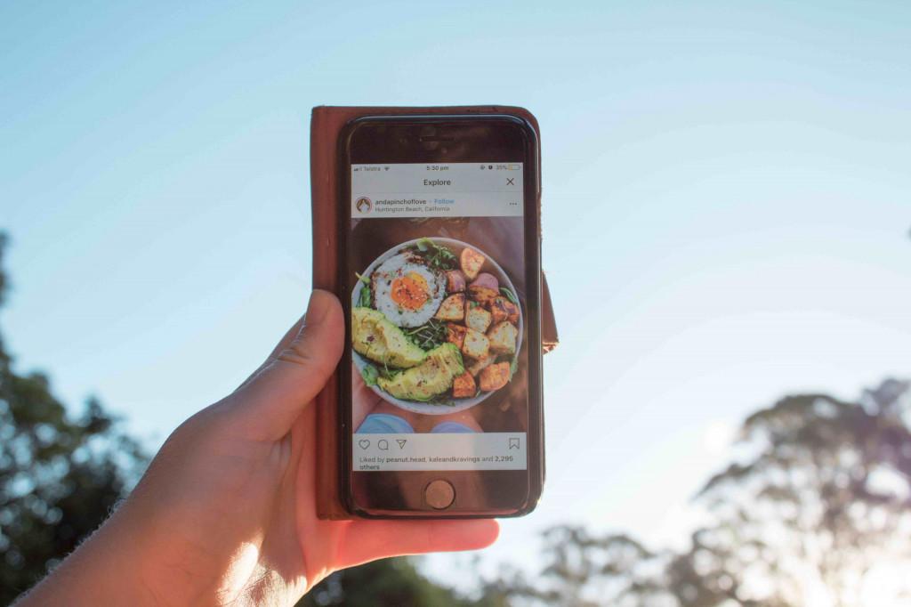 Eine Speise wird auf dem Social Media Kanal Instagram von einem überzeugten Nutzer geteilt
